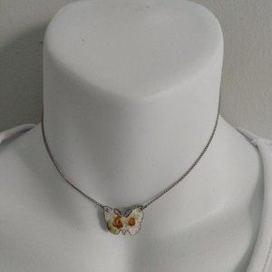 Small butterfly necklace.